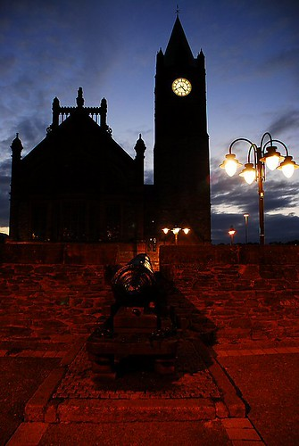 Derry at 4am - View of The Guildhall from the city wall