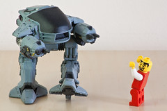 You have 20 seconds to comply... (Neil Crosby) Tags: macro lego minifig ed209 tamron55200mm publishneilcrosbycom