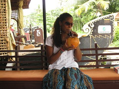 Sipping coconut water (rheabeddoenyc) Tags: india kerala backwaters alleppey