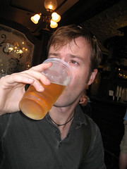 ian drinking cider in england