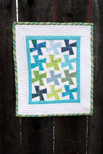 Mini quilt on fence 2