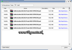 FreeRapid Downloader - history