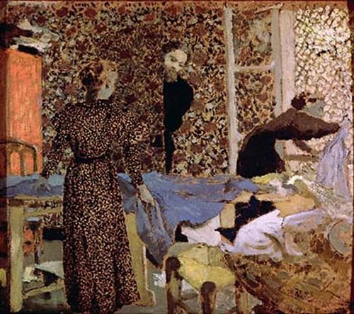 E. Vuillard. Interieur a la Table à Ouvrage. 1893.