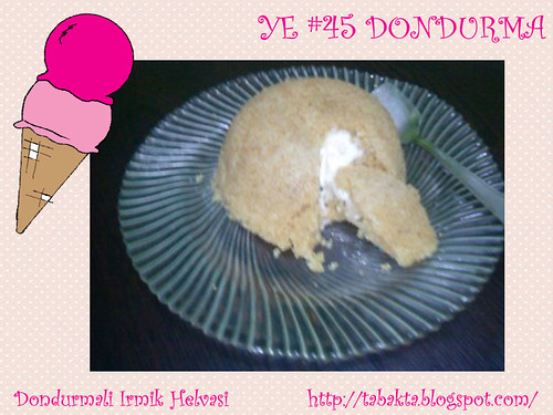 Dondurmali Irmik Helvasi - Tabakta