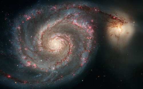 フリー画像| 自然風景| M51 子持ち銀河| 宇宙/スペース|        フリー素材|
