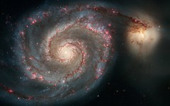 [フリー画像] [自然風景] [M51 子持ち銀河] [宇宙/スペース]        [フリー素材]