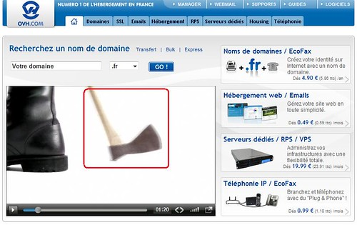 OVH humour hache