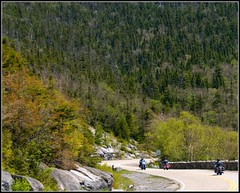 Whiteface 5: Bikers on the Mountain (Tony Fischer Photography) Tags: road mountain ny newyork green nature bike clouds high motorcycle biker elevation whiteface lakeplacid whitefacemountain