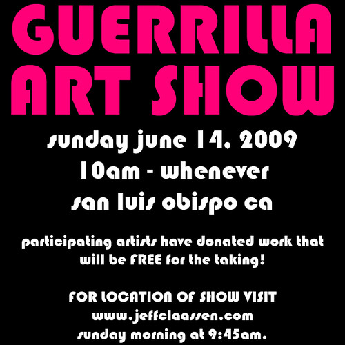FREE ART SHOW ON JUNE 14, 2009