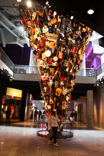 Instrument sculpture in the Seattle Experience Music Project