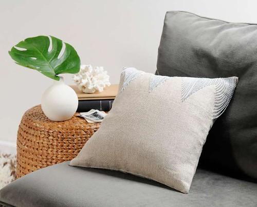 silver chain pillow