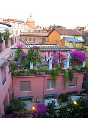 Rooftop View (ZanyShani) Tags: trip italy rome roma june italia 2009 albergodelsole sancarloaicatinari solealbiscione albergosole