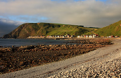 Crovie Village (Pleasureprinciple2013) Tags: longexposure seascape coast scotland morayfirth redstone crovie crovievillage pleasureprinciple2009
