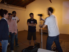 Dan Monceaux from danimations demonstrates camera techniques to artists in Laredo, Texas (danimations) Tags: students video texas class workshop artists production lesson laredo filmmaking danimations