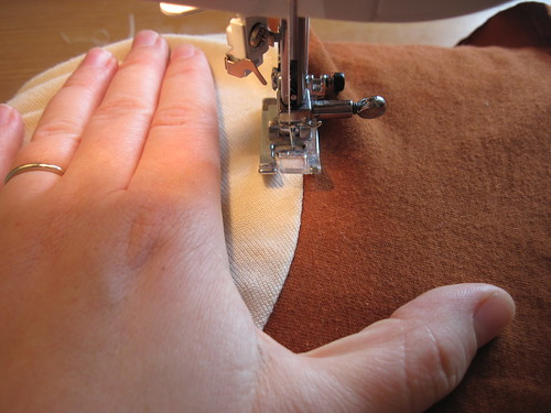 Topstitching Sleeve Seams
