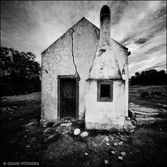 Farm Cottage - Vertorama (Craig Pitchers) Tags: old blackandwhite bw building nikon farm 10mm d90 bsquare nikond90 vertorama nikon1024mm