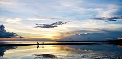 A family of three (Edfalgui) Tags: sunset sea water clouds reflections tramonto cropped puestadesol coucherdesoleil solnedgang zalazaksunca pamilya familya  sorsogon topshot panoramicshot donsol platinumphoto panasonicgf1