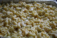 macaroni topped with thyme