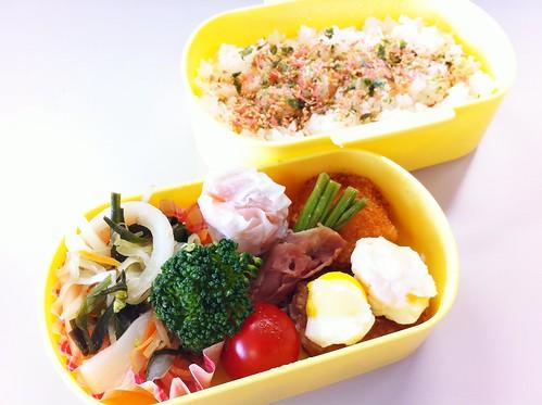 今日のお弁当 No.181 – 鮭青菜