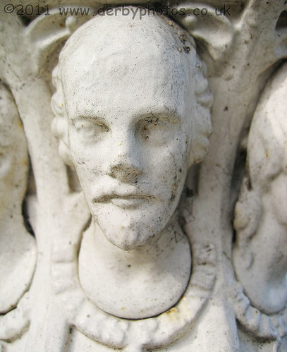 Shakespeare cast in Iron on Handyside Urn