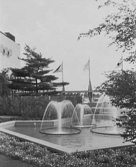 Garden Fountains, 1957. Roosevelt Raceway (theinternetmuseum) Tags: road new york old horse ny field island arthur george closed long market country grand racing roosevelt stewart ave meadowbrook parkway fancy abandonded 1957 shows flea harness avenue plain properties clubhouse levy morton association grandstand airfield paddock raceway westbury trotter summersault trotters paddocks frohlich jocky dreamtrack