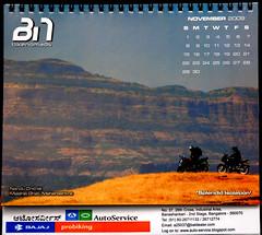 BikeNomads Desktop Calender 2009