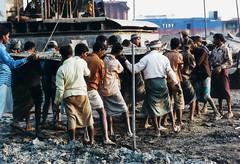 Man Power (N A Y E E M) Tags: dusk bangladesh chittagong fujicolorsuperia800 explored leicar9 shipbreakers summiluxr80mm nayeemkalam sheetalpur