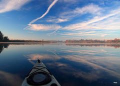 kayak and reflections (Marc Crumpler (Ilikethenight)) Tags: morning usa canon reflections landscape kayak lakes southcarolina goosecreek tamron1750 40d canon40d visionqualitygroup