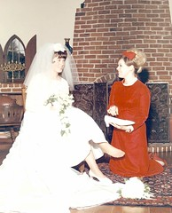 My Sister-in-Law Puts Sixpence in My Shoe for Luck - Me as Bride 40 Years Ago (Pixel Packing Mama) Tags: 1969 bride stunning redshoes sixties reddress v300 exclamationpoints oldfamilyphotosset pixelpackingmama meset dorothydelinaporter redclothespool thepiedmontcaliforniayearsset exclamationpointspool pixwithexclamationpointsincommentsset overquartermilliionphotostreamviews views301400pool me1pool uploadedfirsthalfof2009set original1960sphotos pixelpackingmamasweddingin1969 redbridesmaiddress pixelpackingmamaasayoungbride1969 exclamationpointsincommentsset photosfromthe1960spool onemillionsmilespool pixelpackingmama~prayforkyronhorman oversixmillionaggregateviews over430000photostreamviews
