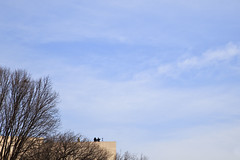Sharpshooters (mrjoro) Tags: travel roof vacation washingtondc washington lenstagged districtofcolumbia unitedstatesofamerica ceremony sniper inauguration nationalgalleryofart themall starred canonef24105f4l inaugurationceremony skyminuscorner canon5dmarkii inaug09 dctrip09 inauguration09