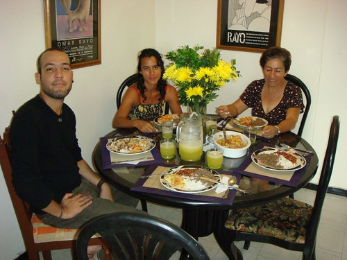 Lunch with Uli, Marcela, and Imelda in Cali - Colombia.