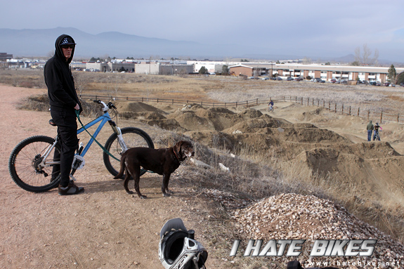 Jimmy D. and Mia check out the beat down main line at the Eaton Park Jumps (AKA Gun Barrel)