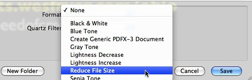 Reduce PDF File Size (free) with Mac OS X Preview