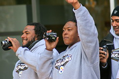 Carey Davis & Darnell Stapleton (Deepak & Sunitha) Tags: pittsburgh nfl super bowl victory parade title superbowl sixth celebrate 2009 steelers champions grantstreet gosteelers terribletowel herewego steelernation xliii sixburgh slashd