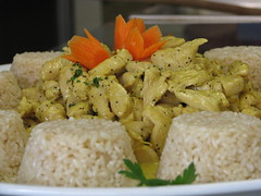 Pollo al Curry con riso al Pilaf