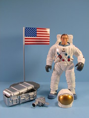 Charles M. Duke with gear (FranMoff) Tags: toys power space duke charles astronaut nasa actionfigures emu exploration rangers bandai af1033