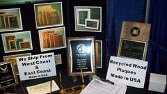 Recycled Wood Award Plaques