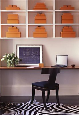 sara story gramercy park home office open shelving shelf desk
