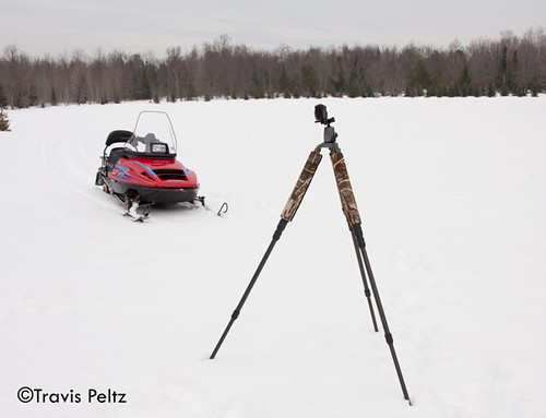 The G10 and snowmobile in action