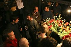 Party at Petr van Blokland's studio (abi_huynh) Tags: andyclymer samikortemki robothon2009 talleming robothon09