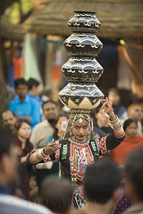 Being a woman -A balancing act, India (sanjayausta) Tags: people india dance asia head indian traditional fine culture tribal tribes balance areas ethnic