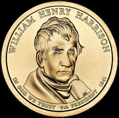 1 prezidentský dolár USA 2009, W. H. Harrison