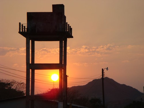 Sunset on the Honduras/El Salvador border...