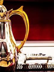 Reflections ... (heshaaam) Tags: red cup reflections gold bahrain flask tea arab tray hdr hospitality manama ramzi hasan nezar hesham qrpfsgui