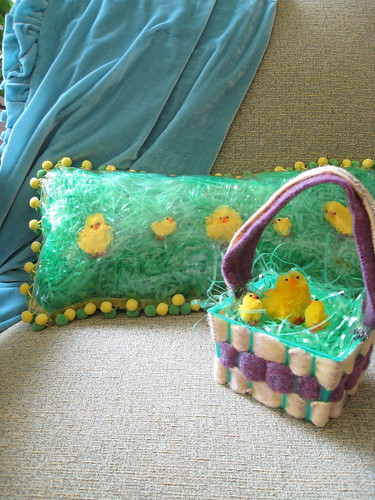 Easter basket and pillow