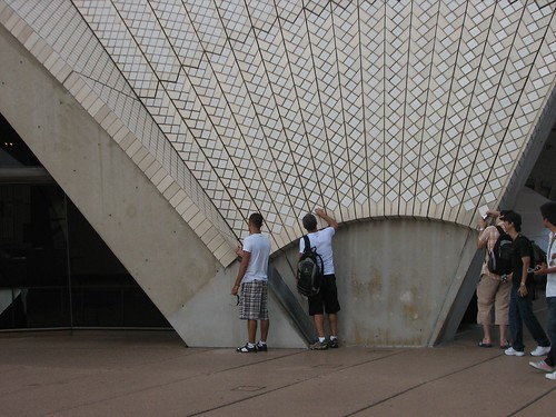 Dean and John checking out the Opera House construction