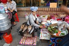 Grilled Fish and Nam Prik Pla Tu - Stall -  Night Market, Kad Suan Kaew