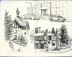 around Bozeman (paul heaston) Tags: urban art moleskine notebook observation sketch artwork drawing journal sketchbook location draw