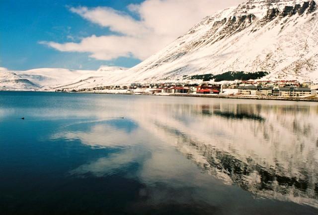 Ísafjörður, capital of the western fjords of Iceland