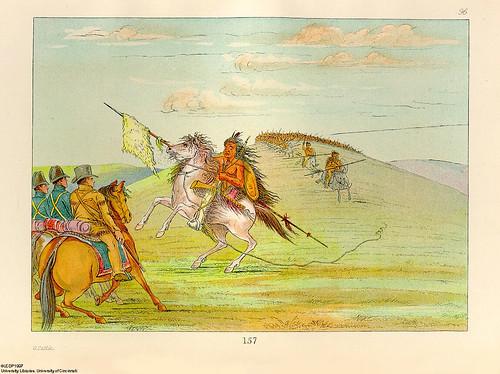 018-Reunion con la caballeria comanche-George Catlin 1841